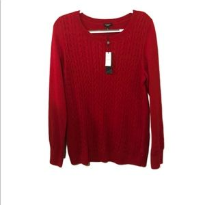 Talbots sweater NWT cable knit size XL